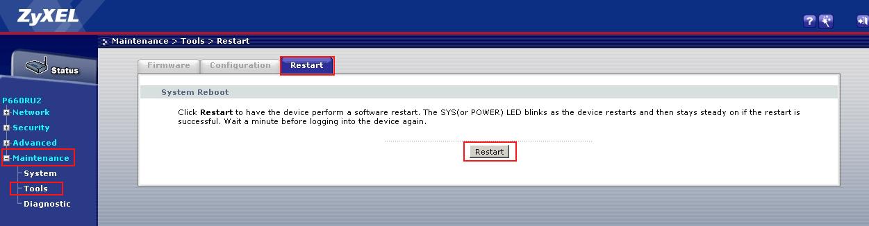 Настройка подключения по протоколу DHCP модема Zyxel P660