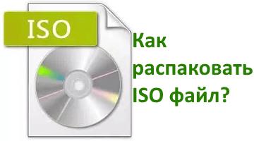 распаковка расширения ISO