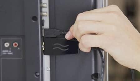 как подключить ноутбук к телевизору lg через USB кабель